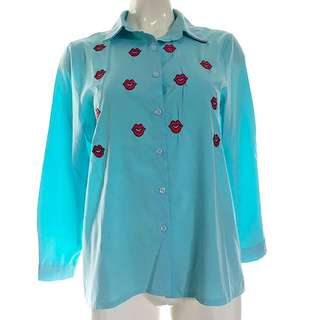 Korean Style Light Blue Casual Shirt Size 6/8