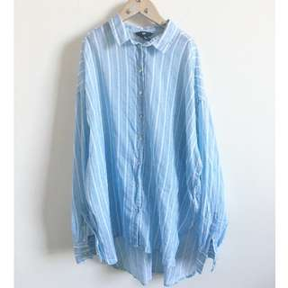 Baby Blue Striped Top