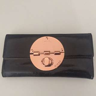 Mimco Classic Wallet (rose Gold And Black)