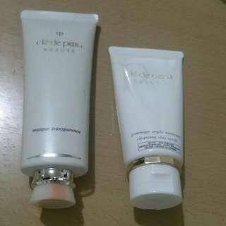 Cle De Peau透白面膜及磨砂洗臉