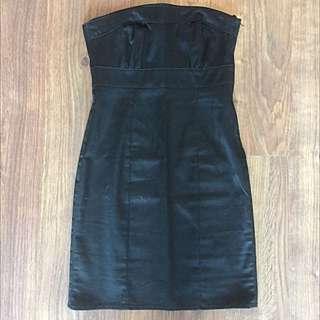 H&M: Black Strapless Dress