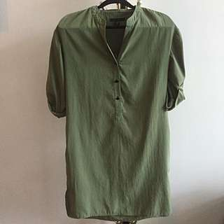 KENNETH COLE: Army Green Shirt Dress