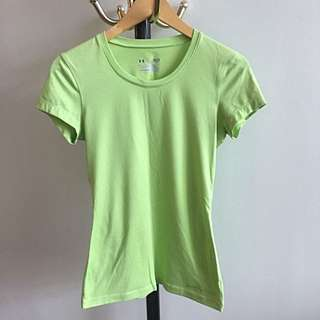 UNDER ARMOUR: Light Green Dri Fit Top