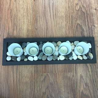 Decor: Candles And Tray