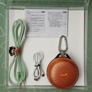 ✨下殺到底✨Genius  SP-906BT 藍牙無線喇叭金屬質感(亮橘色)