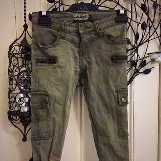 Khaki Skinny Jeans Size6