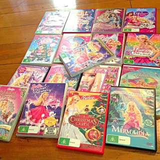Assorted Barbie Dvds