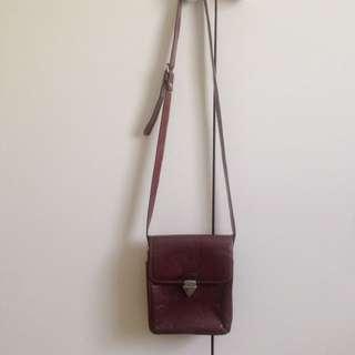 Vintage Brown Genuine Leather Side Messenger Bag
