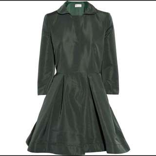 Red Valentino Satin-faille forest green Coat