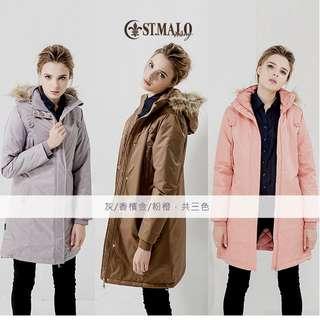 購物台購入 保暖大衣外套 ST.MALO 太陽棉 粉色 L