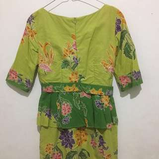 Baju Batik Dress (jahit Sendiri)