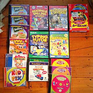 Assorted Children's Educational / Creative PC Games: Maths Spelling Reading Typing
