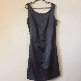 Satin Black Formal Dress