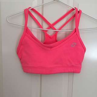Lorna Jane Coral Crop Top Size XS