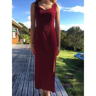 Burgundy Ball Dress