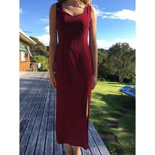 Burgundy Ball Dress