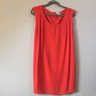F21 Redorange Dress