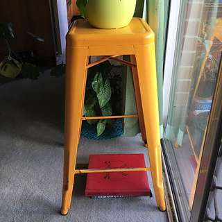 Industrial Yellow Bar Stool/stand