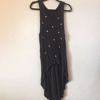 F21 Black Top With Short Train