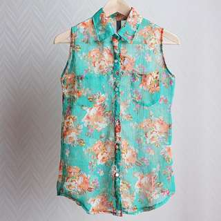 Green Flower Shirt