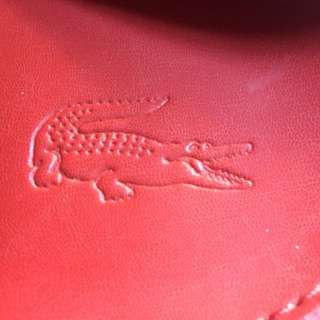 Lacoste Red Leather Bag