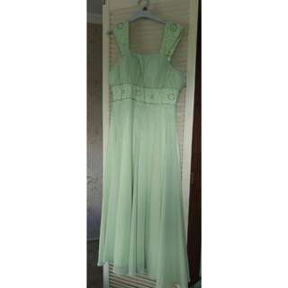 Lime Coloured Formal Dress