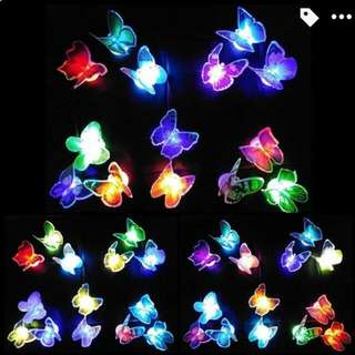 ($50 for 3)變色蝴蝶燈, 可黏貼 butterfly light can stick & flash in different colours randomly