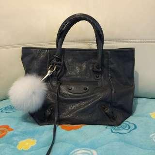 巴黎世家鐵灰色購物包