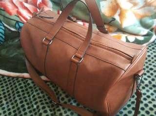 ZARA-BROWN DUFFLE BAG