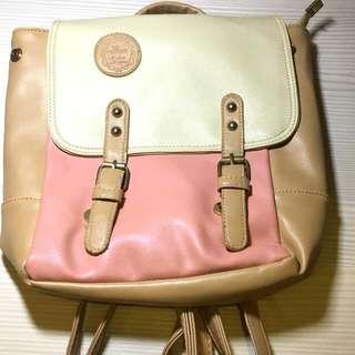 粉色少女甜美學院後背包