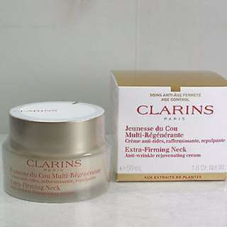 Authentic Brand New In Box Clarins Extra Firming Neck Anti-Wrinkle Rejuvenating Cream 50ml