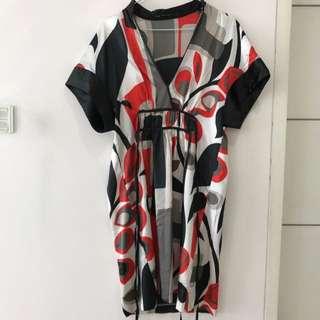 ZARA dress Orange Black