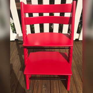 Stokke tripp trapp high chair (red colour)
