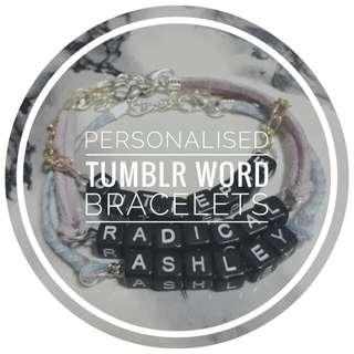 [2 for $6] Customised Word Bracelet