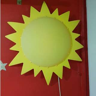 $5 DEAL ONLY ON 12 MARCH!!!  Ikea Kids Sunlight - SMILA SOL - Ceiling/ wall light