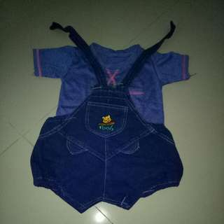 Set Kaos & Outer Denim (jeans Pooh)