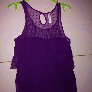 Branded Purple Sleeveless Top