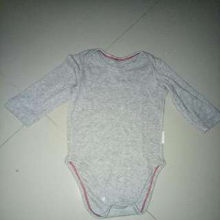 Uniqlo Kids Longsleeve Plain Grey Jumper For 6-9 Months With Defect