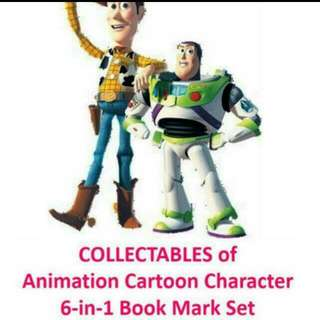 Toy Story - 20 YEARS OF ANIMATION PIXAR SINGAPORE COLLECTIBLES.  6 In 1 Book mark