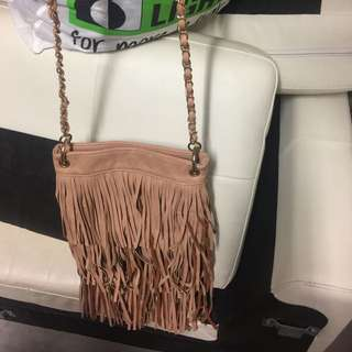 Colette Hayman Leather Tassel Bag