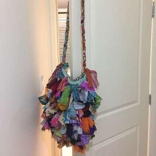 Unique Fabric Tassel Bag