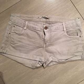Dirty White Maong Short