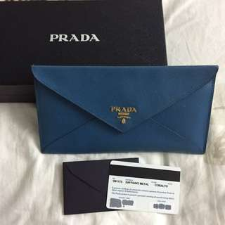 AUTHENTIC Prada Leather Saffiano Envelope Wallet