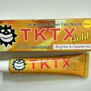Tktx 38% Authentic More Numbing Cream Gold Tube 10g