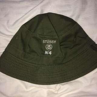 Olive Green Stussy Bucket hat