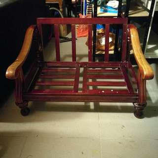 REDUCED! Wooden Vintage 2 Seater Chair