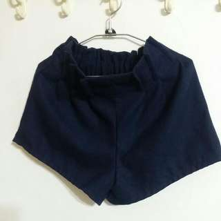 💖 Queen Shop 藍色毛呢短褲