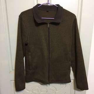 無印良品 棕色 保暖外套M