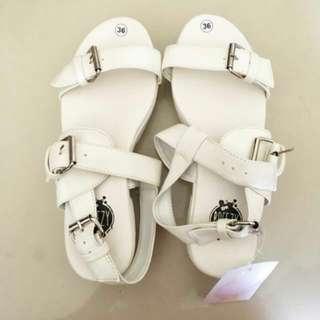 White Sandal Platform
