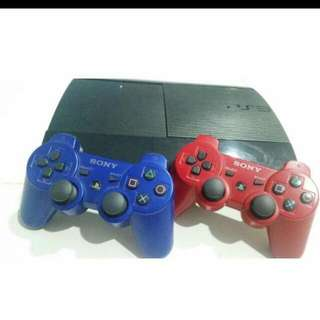 Ps3 Black With 2 Controller